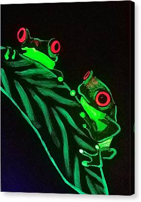 Tree Frogs  Canvas Print