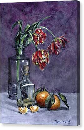 Tulips And Oranges Canvas Print