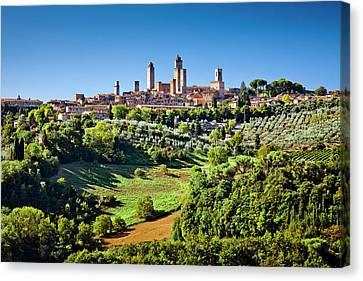 San Giminiano Door Tuscany Italy Quadriptych Metal Wall Art