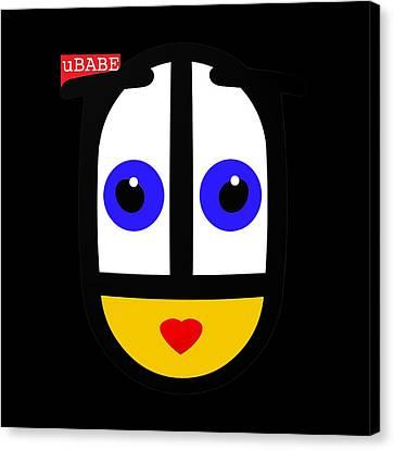 uBABE Black Canvas Print