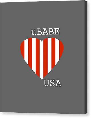uBABE USA Canvas Print