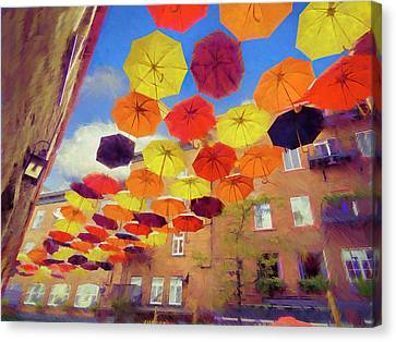 Umbrellas 002 Canvas Print