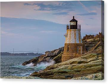 Unfazed By The Encroaching Sea Canvas Print