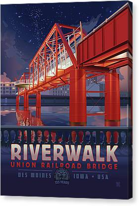 Union Railroad Bridge - Riverwalk Canvas Print