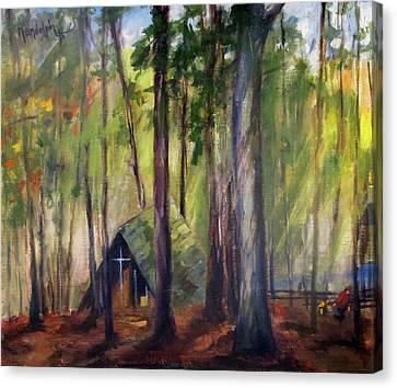 Up Hill Fisherman's Chapel Canvas Print