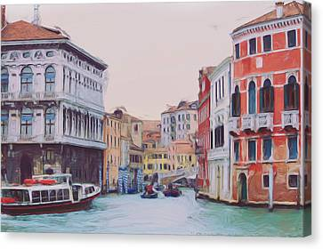 Venice Italy Water Canal Canvas Print