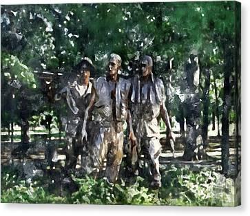 Vietnam Veteran Memorial Canvas Print