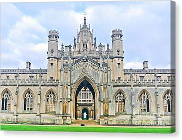 View Of St Johns College, University Of Canvas Print by Javen