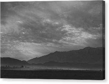 View Sw Over Manzanar, Dust Storm Canvas Print by Buyenlarge