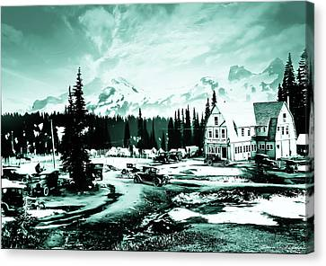 Vintage Mount Rainier Camp And Store Supplies Early 1900 Era... Canvas Print