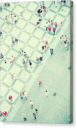 Walking People Canvas Print by Carlo A