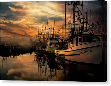 Warm Morning On The Bay Canvas Print