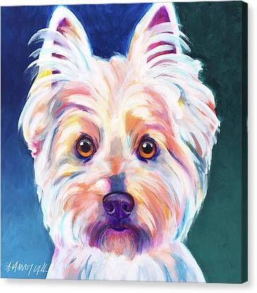 WEST HIGHLAND WHITE TERRIER SALON dog art  4x6   GLOSSY PRINT