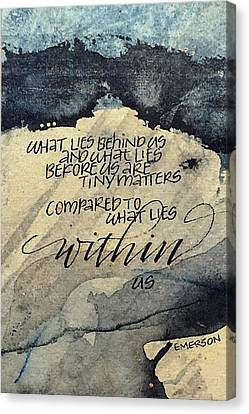 What Lies Within Canvas Print
