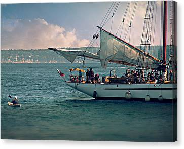 Canvas Print featuring the photograph Wooden Boat Festival by Micki Findlay