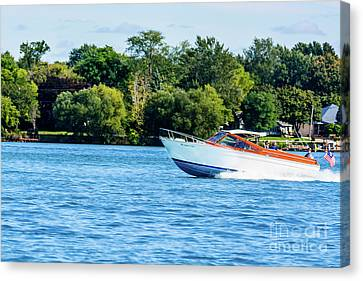 Yes Its A Chris Craft Canvas Print