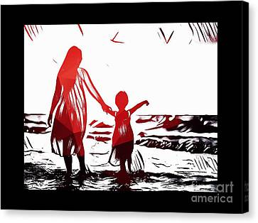 You Me And The Sea II Canvas Print