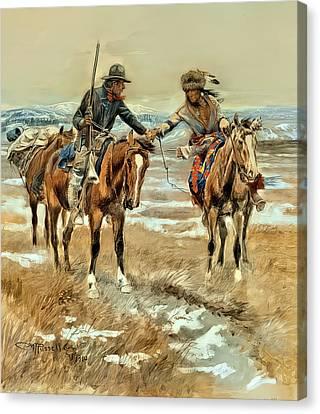 WESTERN ART POSTER Blackfeet Buffalo Range C Russell