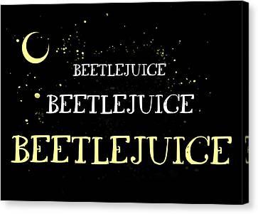 Beetlejuice Canvas Prints Fine Art America