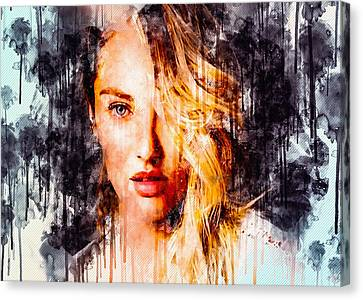 Art Print Poster CANVAS Candice Swanepoel