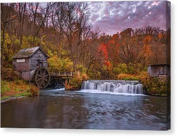 Mill Water Wheel Old Canvas Prints Fine Art America