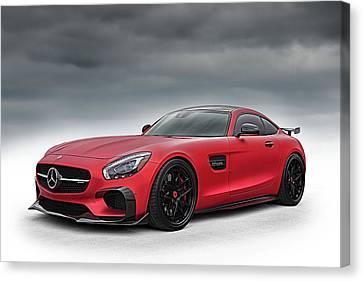 MERCEDES GTS  BLACK Sports Car Wall Art Canvas AU643 MATAGA  NO FRAME-ROLLED