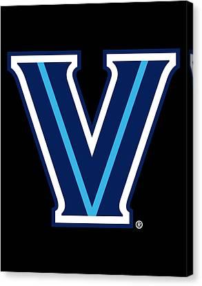 Villanova Basketball  Wildcatsts  Minimal College Sports Canvas Design Print  Multiple Size  Villanova Canvas  NOVA