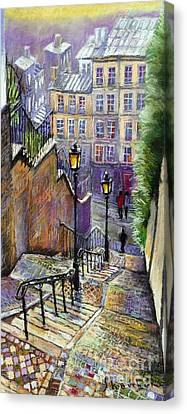 GARDEN GATE MONTMATRE HILL PARIS FRANCE PAINTING FRENCH ART REAL CANVAS PRINT