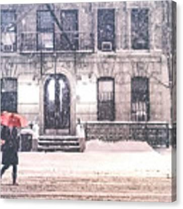 New York City Snow Canvas Print by Vivienne Gucwa