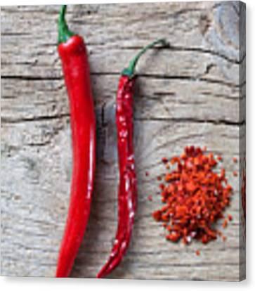 Red Chili Pepper Canvas Print by Nailia Schwarz