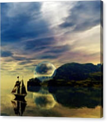 Reflection Bay Canvas Print by Sandra Bauser Digital Art
