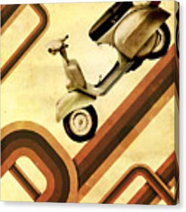Retro Vespa Scooter Canvas Print