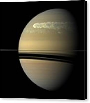 Saturn Canvas Print by Artistic Panda