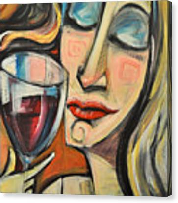 Savoring The First Sip Canvas Print by Tim Nyberg