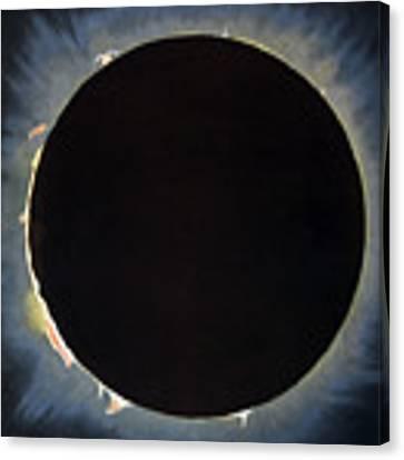 Solar Eclipse, 1860.  Canvas Print by Granger