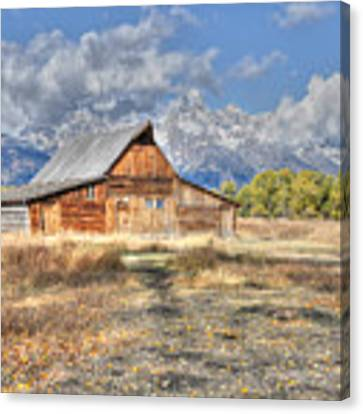 Teton Barn Canvas Print by David Armstrong