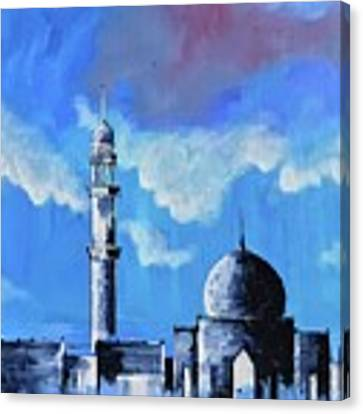The Mosque Canvas Print by Nizar MacNojia