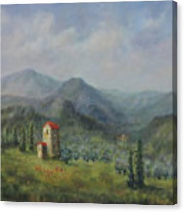 Tuscany Italy Olive Groves Canvas Print by Katalin Luczay