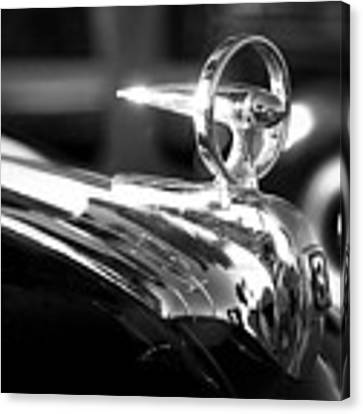 1946 Ford V8 Hood Ornament Canvas Print by Beverly Stapleton