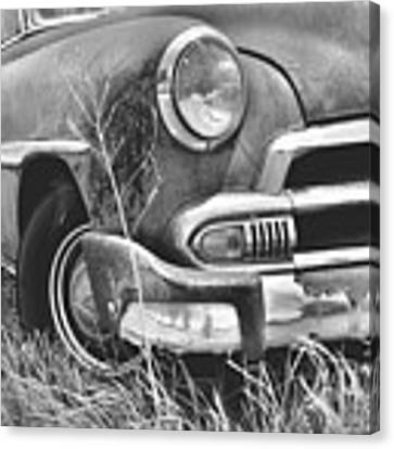 1951 Chevrolet Power Glide Black And White 2 Canvas Print by Lisa Wooten