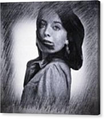 Selfportrait  Canvas Print by Colette V Hera Guggenheim