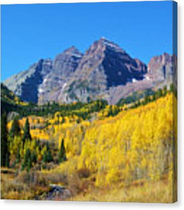 The Maroon Bells Canvas Print by Kate Avery