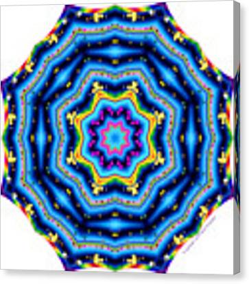 6 To 60 Kaleidoscope Canvas Print by Brian Gryphon