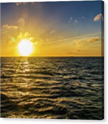 Aboard A Danger Charter Sunset Cruise In Key West Canvas Print by Bob Slitzan