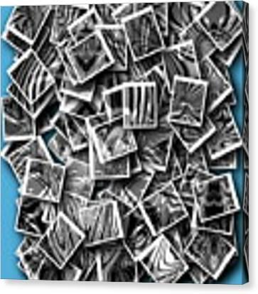 Abraxas Collage Canvas Print by Visual Artist Frank Bonilla