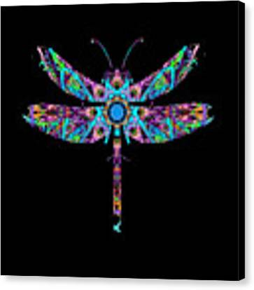 Abstract Dragonfly Canvas Print by Deleas Kilgore