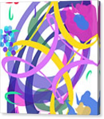 Abstract Garden #2 Canvas Print by Bee-Bee Deigner