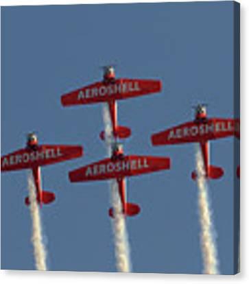 Aeroshell Aerobatic Team Canvas Print by Susan Rissi Tregoning
