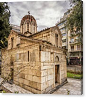Agios Eleftherios Church Canvas Print by James Billings