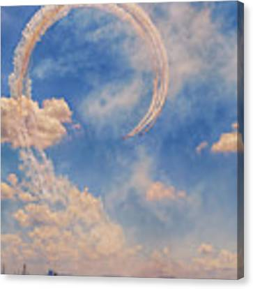 Airshow At The Lou Canvas Print by Susan Rissi Tregoning